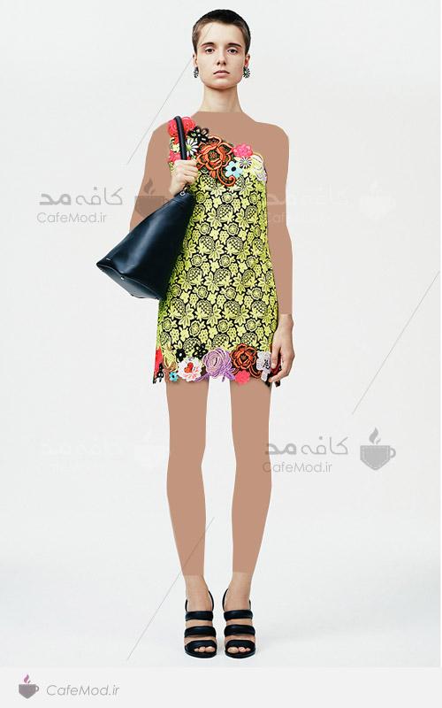مدل لباس مجلسی کوتاه گیپور