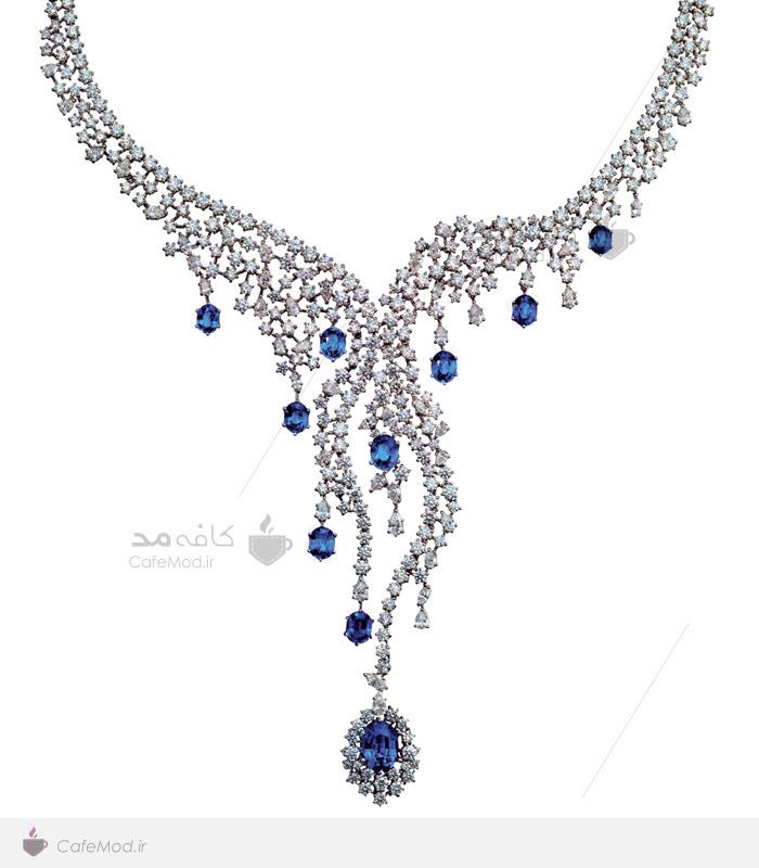 مدل گردنبند جواهر سنگ آبی