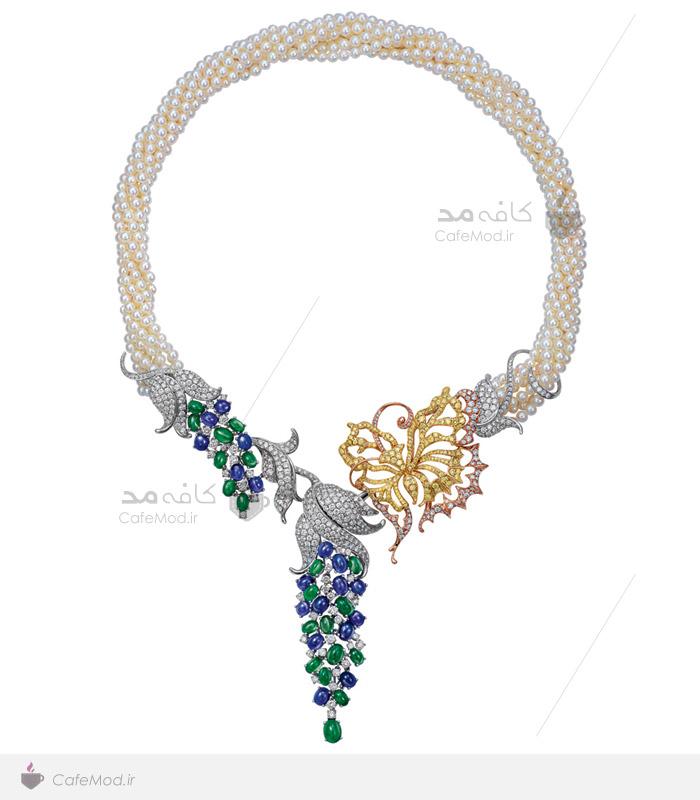 مدل گردنبند جواهر مروارید