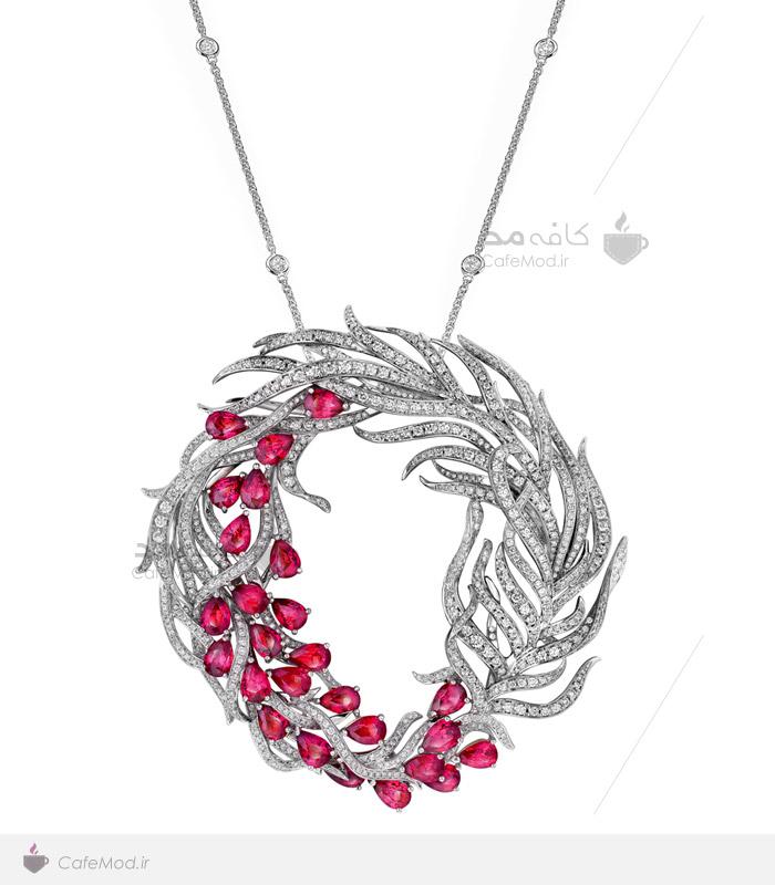 مدل گردنبند جواهر یاقوت