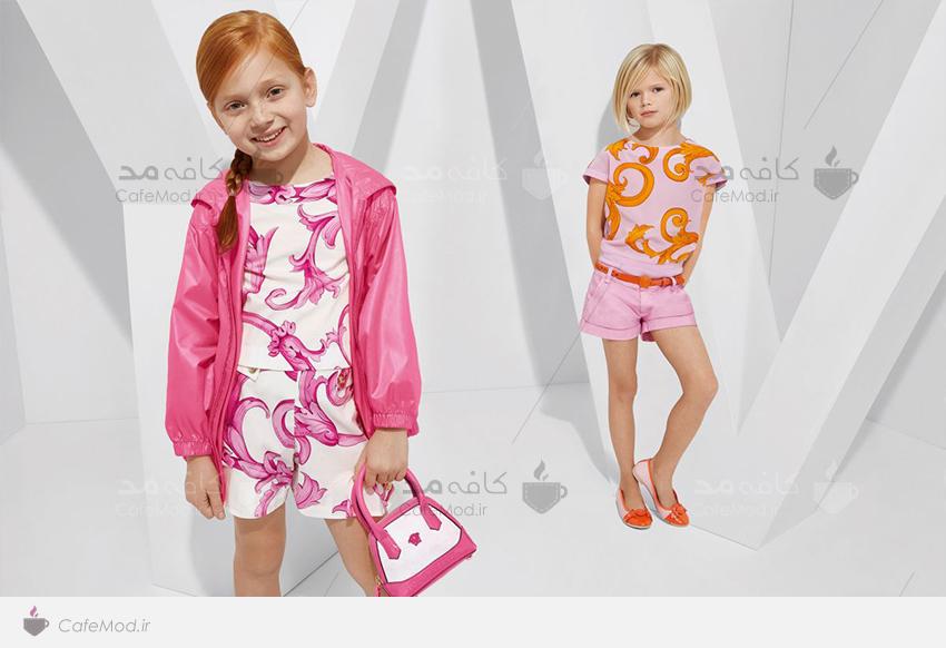 مدل لباس دخترانه پسرانه versace 2015