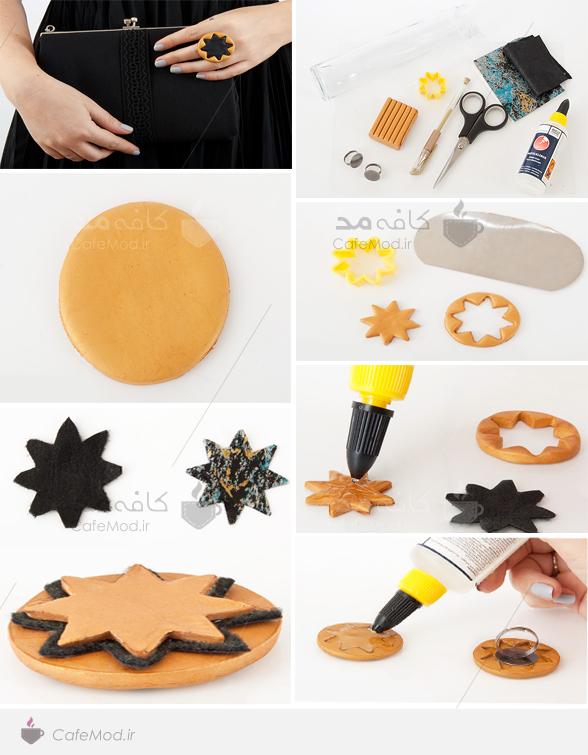 آموزش ساخت انگشتر خمیری
