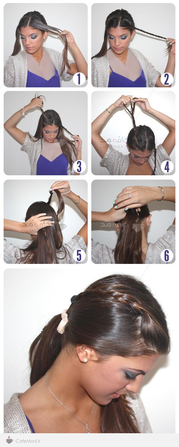 آموزش بافت تل موی دخترانه