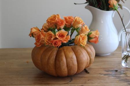 آموزش ساخت گلدان با کدو حلوایی