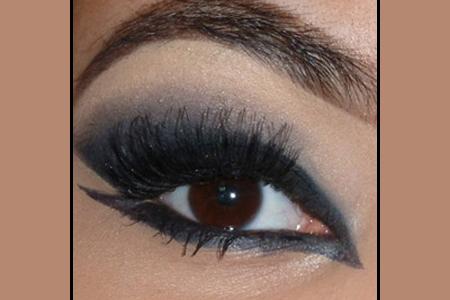 آموزش آرایش چشم سیاه 2