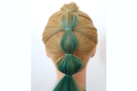 آموزش بافت موی حبابی 2