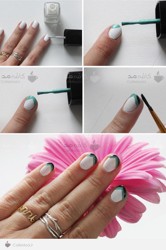 آموزش طراحی ساده روی ناخن
