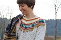 آموزش تزئین یقه لباس بافتنی