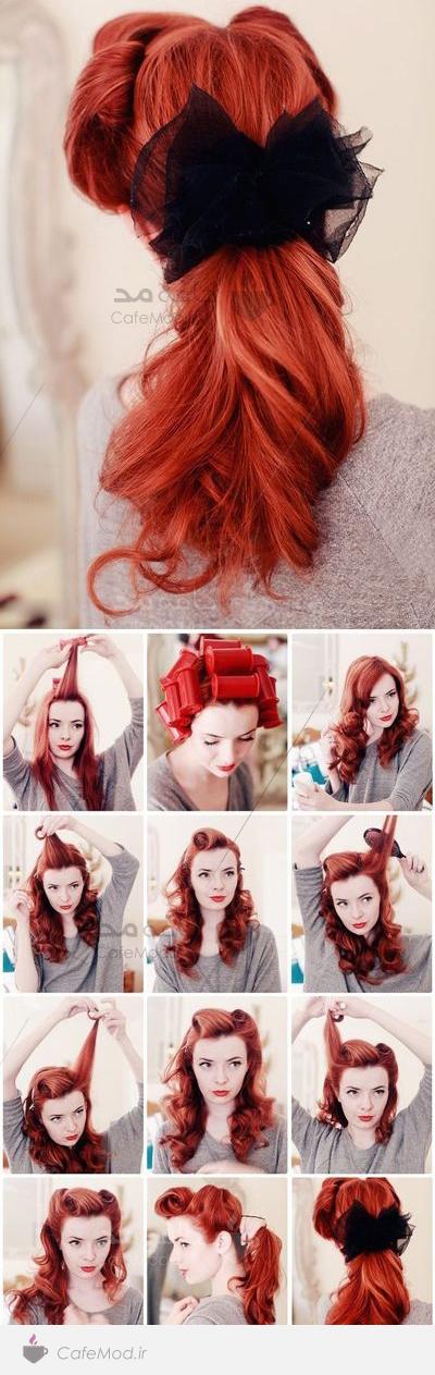 آموزش آرایش مو با دم اسبی زیبا