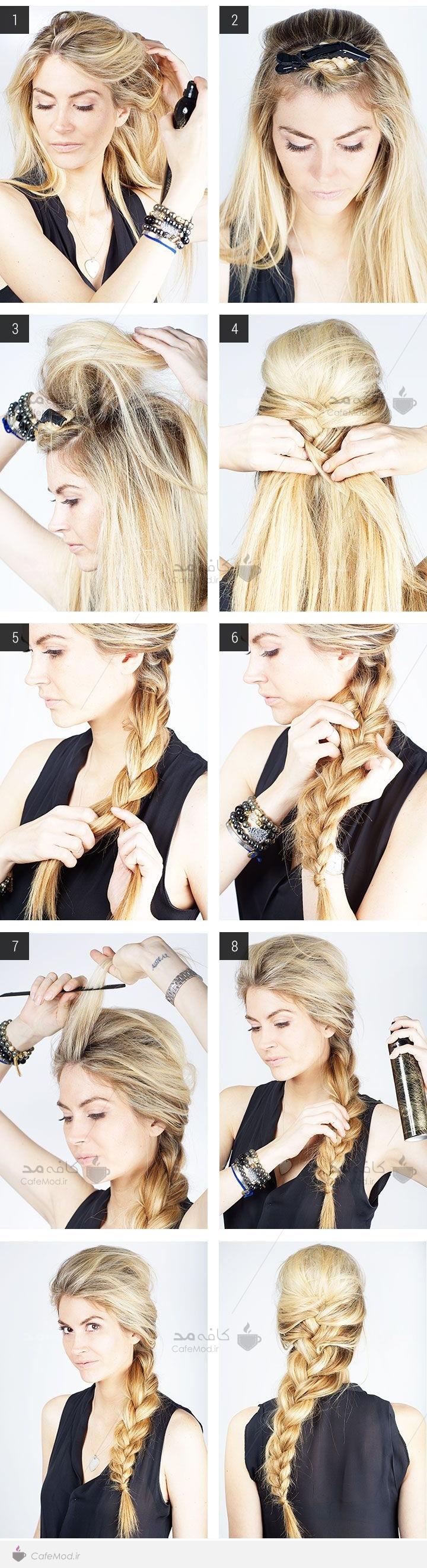 آموزش بافت موی بلند