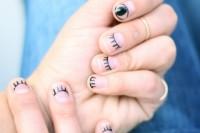 آموزش طرح پلک و چشم روی ناخن