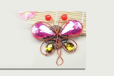 آموزش ساخت پروانه تزئینی 2