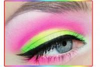 آموزش آرایش چشم رنگین کمانی