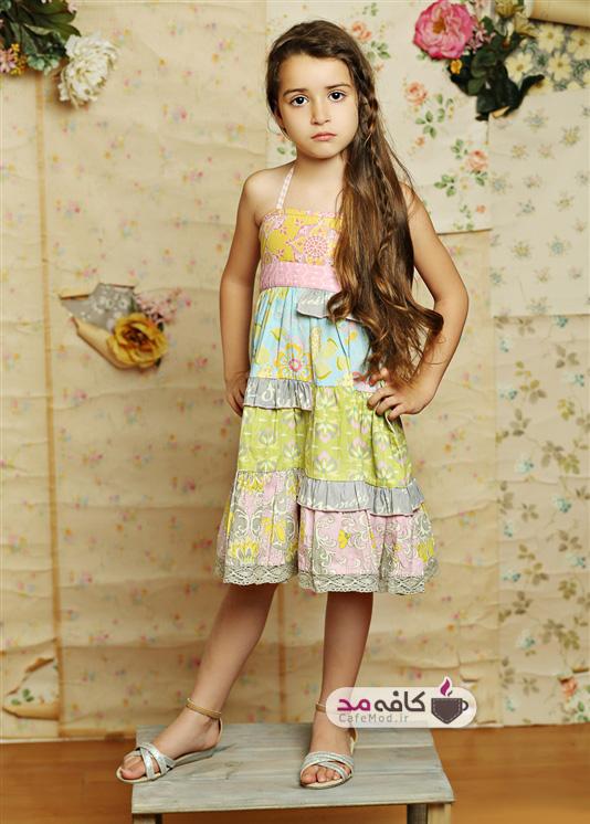 مدل لباس دخترانه Mustard pie