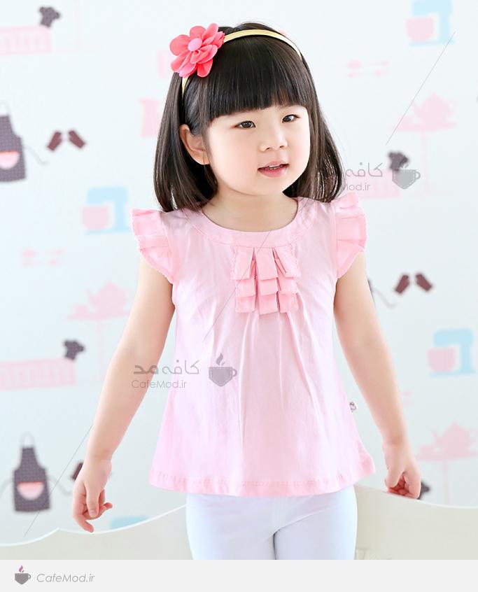 مدل لباس دخترانه آستین کوتاه taobao