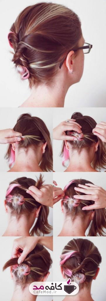 آموزش جمع کردن موها