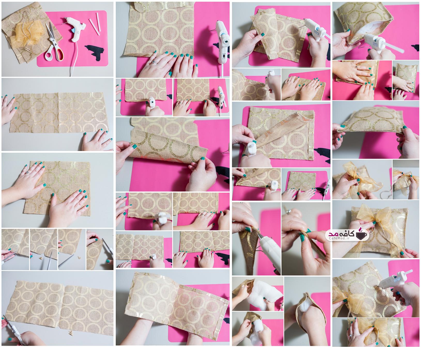 آموزش ساخت جا حلقه ای عروس