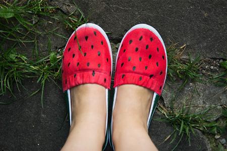 آموزش کفش هندوانه ای