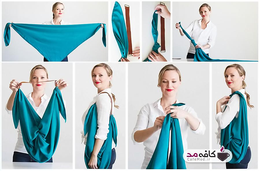 آموزش درست کردن کیف با روسری
