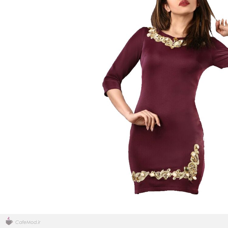 مدل لباس مجلسی گل گیس