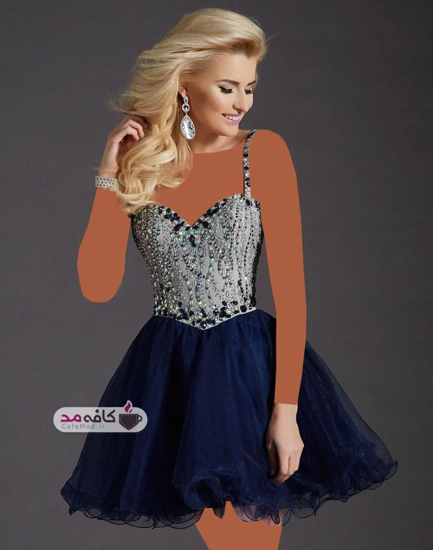 مدل لباس کوتاه مجلسی