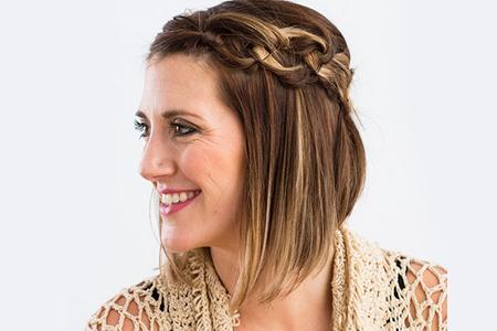 آموزش آرایش مو با گره زدن 2