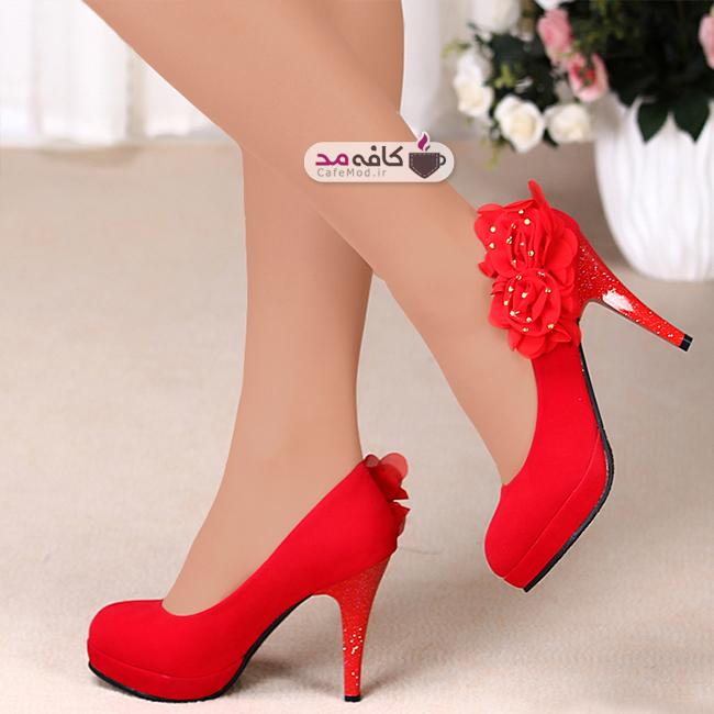مدل کفش قرمز زنانه پاشنه بلند
