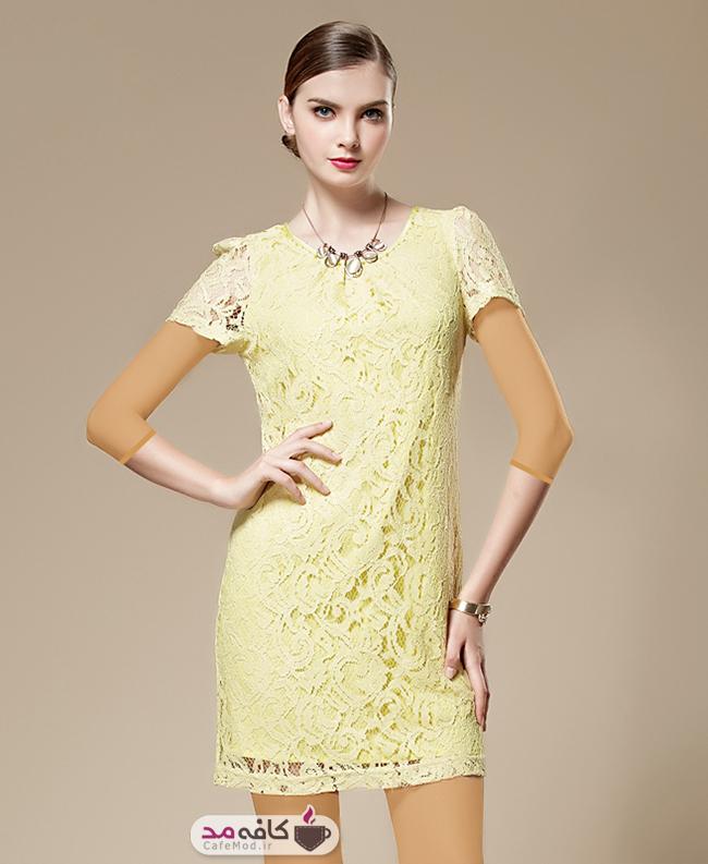 مدل لباس مجلسی با دانتلStylewoman