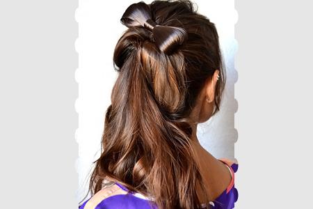 آموزش آرایش موی پاپیونی 2