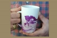 ایجاد طرح روی لیوان با لاک