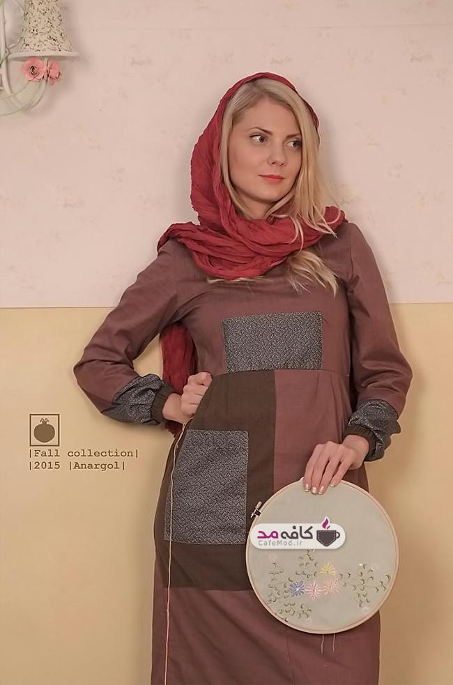 مدل مانتو برند ایرانی انار گل