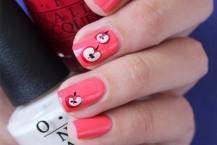 آرایش ناخن با طرح سیب