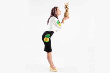 آموزش طرح آناناس روی لباس