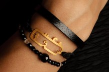 مدل دستبند چرم و طلای KiaGallery