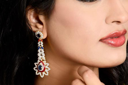 مدل گوشواره هندی Kaneesha
