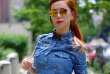 مدل پیراهن جین زنانه