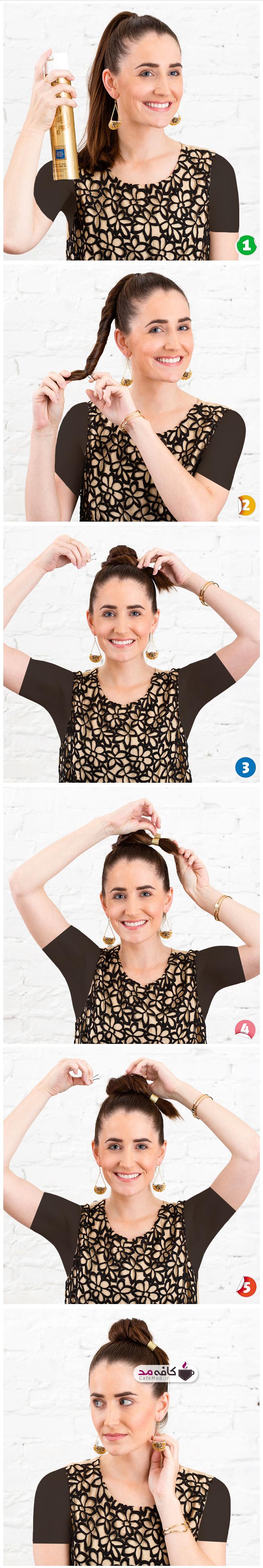 آموزش آرایش موی ساده
