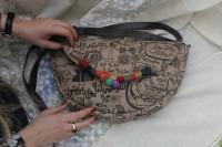 مدل کیف زنانه فرفره رنگی
