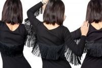 تزئین لباس کوتاه مجلسی