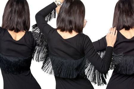 تزئین لباس کوتاه مجلسی 2