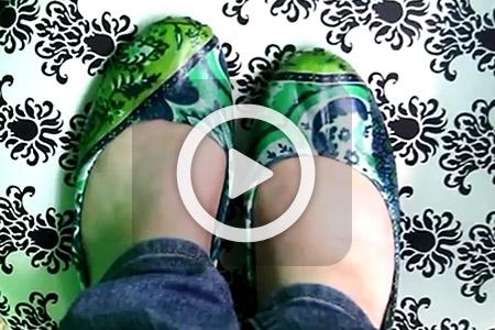 فیلم آموزش دکوپاژ روی کفش