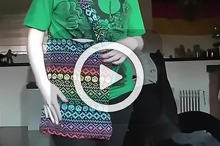 فیلم دوخت کیف با لباس
