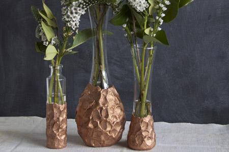 تزئین گلدان های ساده 2