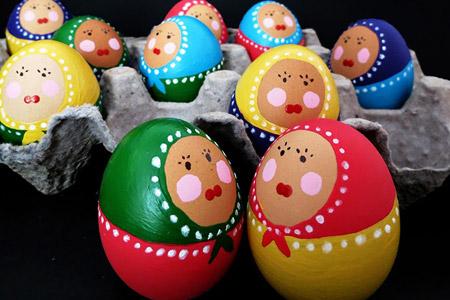 نقاشی روی تخم مرغ 2