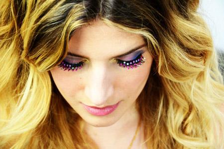 آرایش چشم با مژه ستاره ای 2