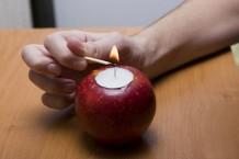 آموزش جاشمعی سیب