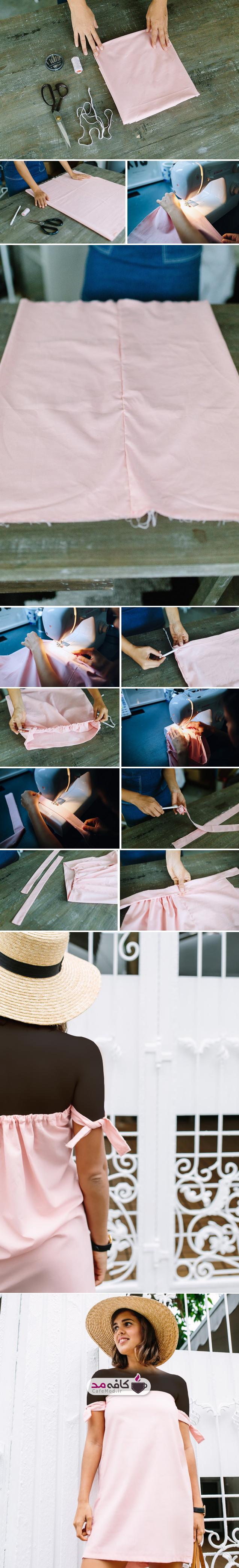 آموزش دوخت لباس بدون الگو