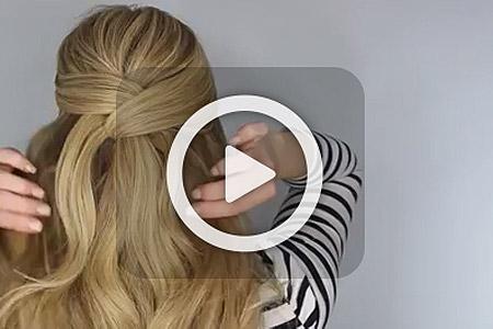 فیلم آموزش آرایش موی بلند