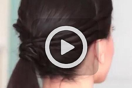 فیلم آموزش آرایش موی سریع 1