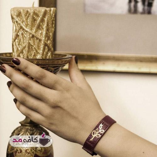 مدل دستبند چرم و طلا